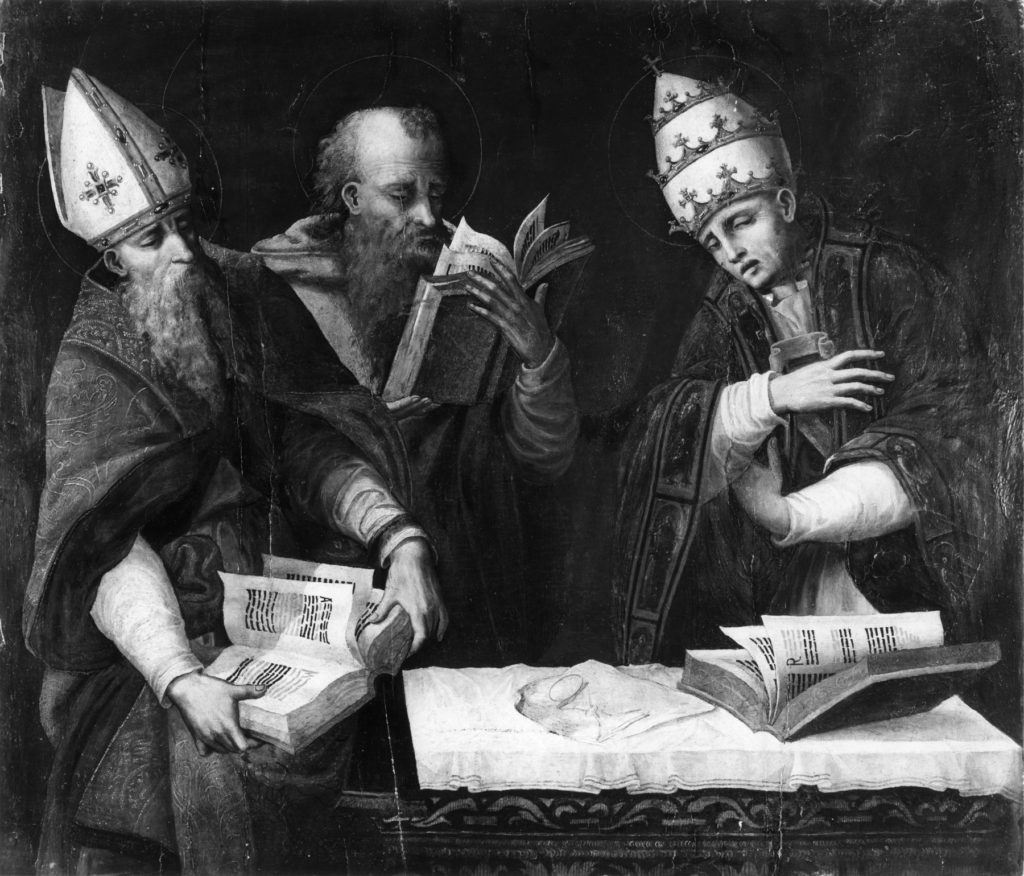 Marco_Cardisco_-_Saints_Augustine,_Jerome_and_Gregory_the_Great_-_Walters_371147